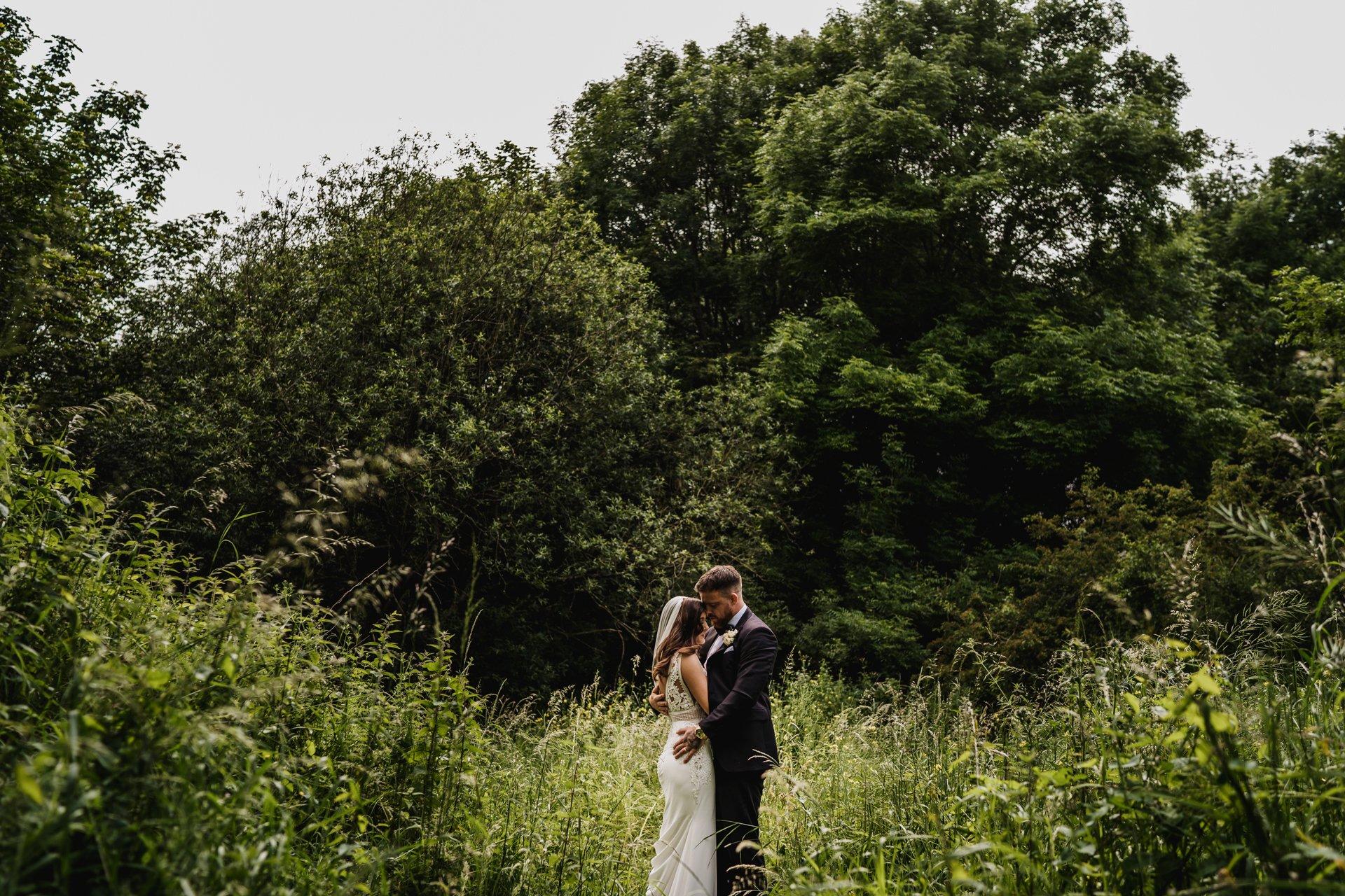 black tie wedding field
