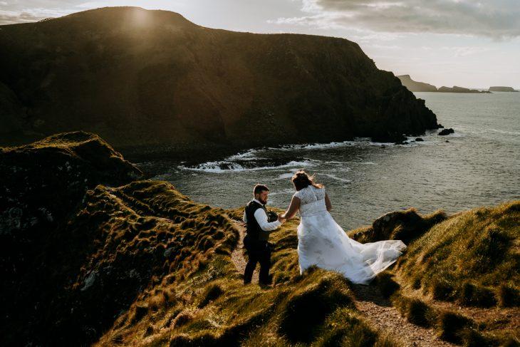 seaside cliff elopement wedding ireland