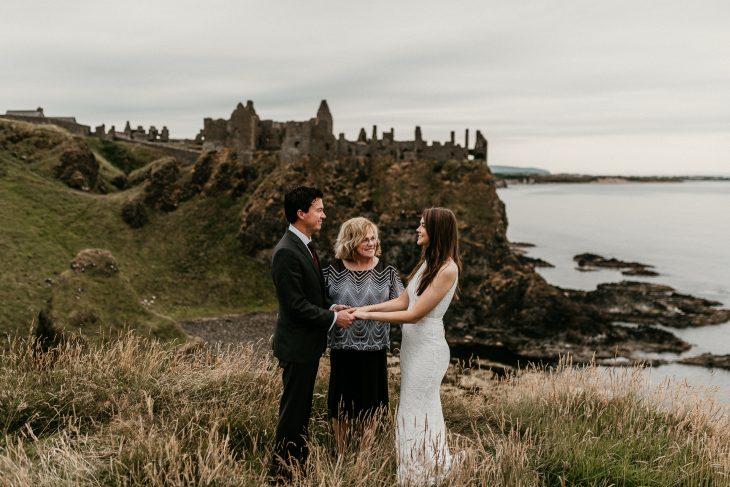 dunluce castle intimate elopement