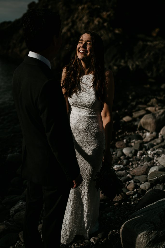 murlough bay elopement happy smiling bride