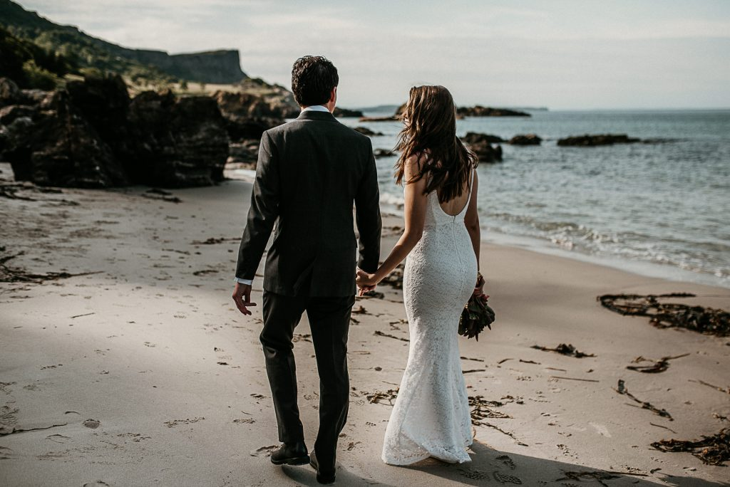 intimate beach elopement