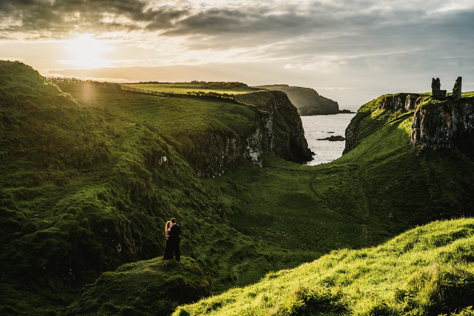 dunseverick castle elopement